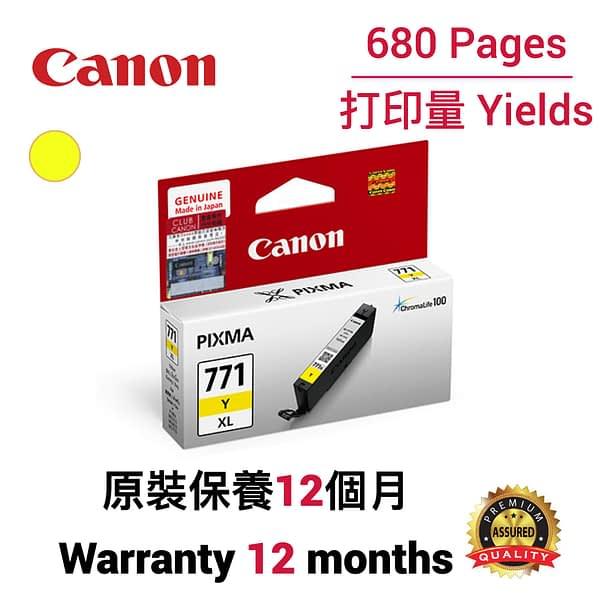 cartridge_world_Canon CLI771XL Y