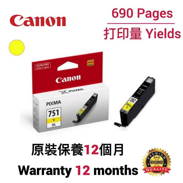 cartridge_world_Canon CLI751 XL Y